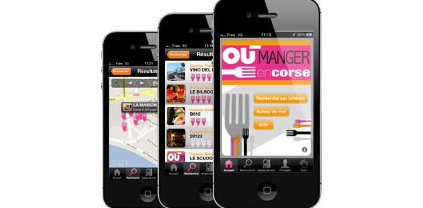 "Application ""Où manger en Corse ?"""