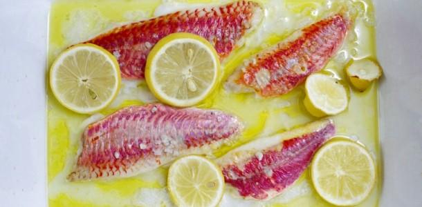 Rougets marinés au miel de Corse et au citron